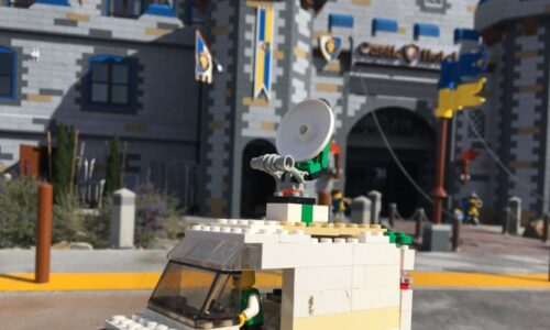 An Actual Lego ENG van spotted at Legoland California in 2019!